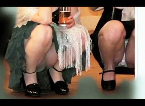 結婚式パンチラ胸チラ動画-13