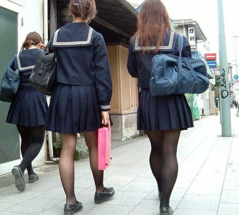 JKタイツ街撮り画像