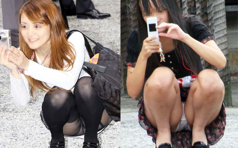 カメラ女子のパンチラ画像