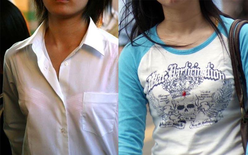 貧乳微乳の着衣街撮り画像